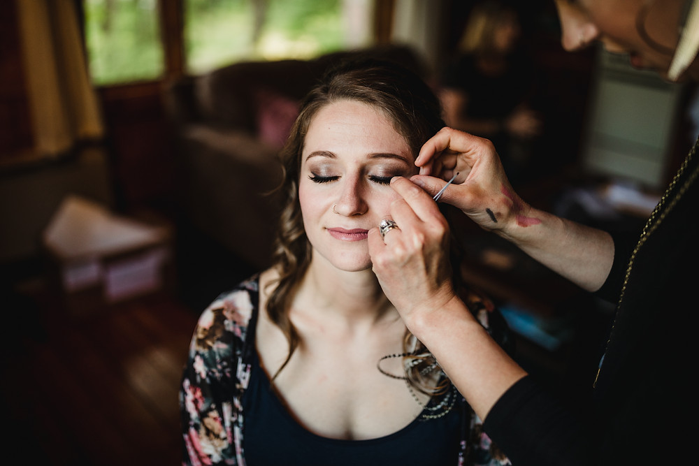 Girdwood Alaska elopement make up and hair artists