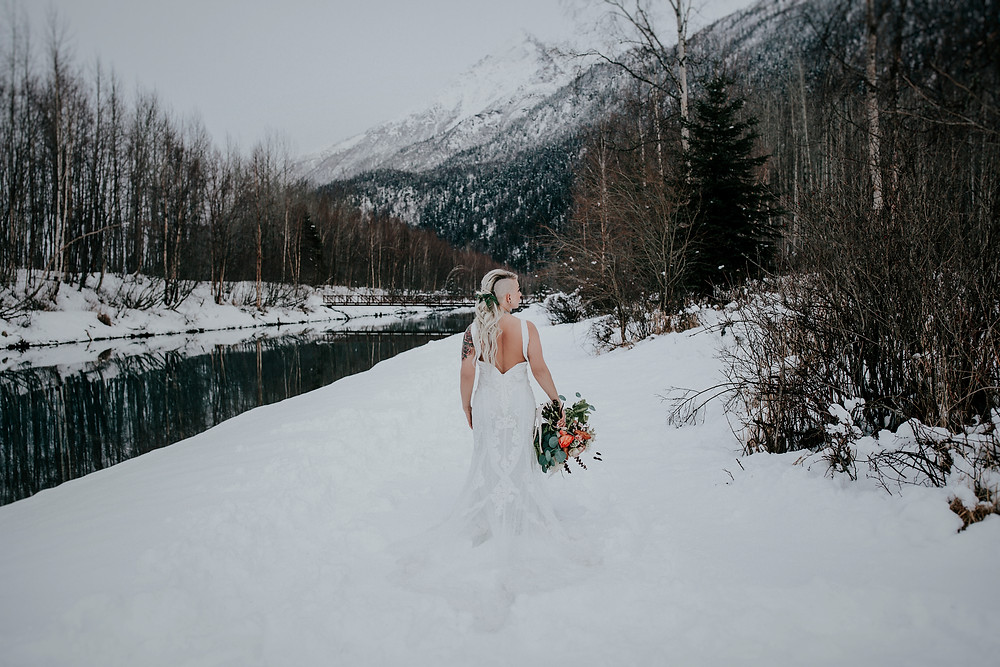 Rea; Alaska styled winter elopement