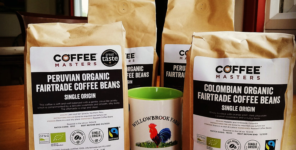 Organic Coffee Beans - 1kg