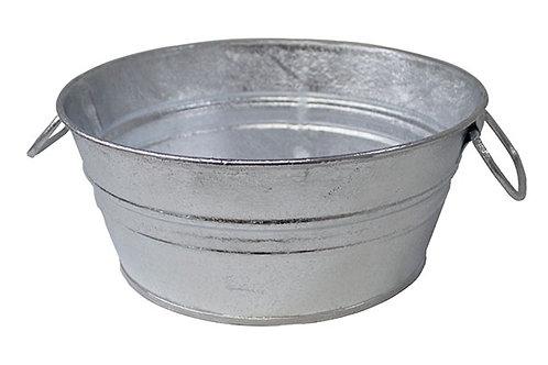 5 Gallon Silver Galvanized Tub