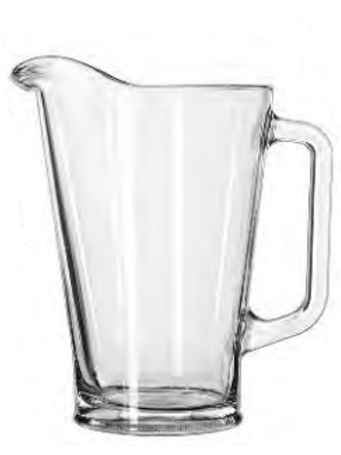 Glass Water Pitcher 60 oz.
