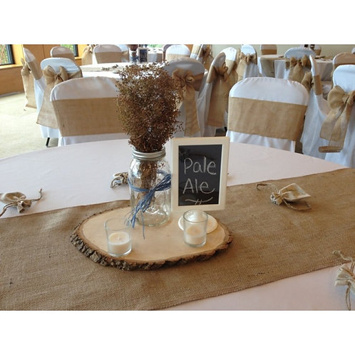 Burlap Table Runner 18""