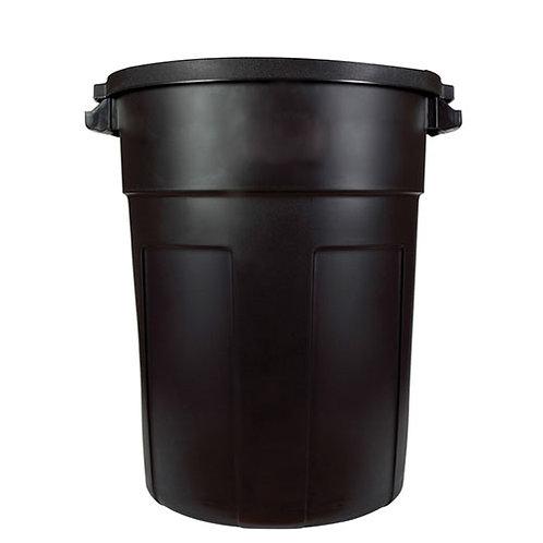 32 Gallon Black Trash Can