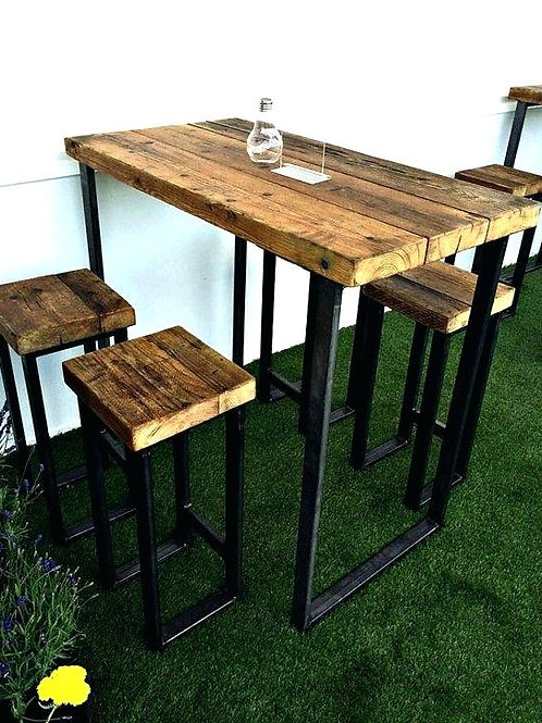 Custom Rustic Bar Table and Stools (Limited)