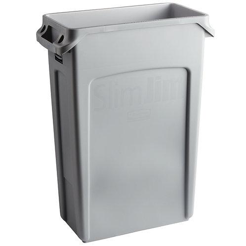 Slim Jim 23 gallon gray trash can