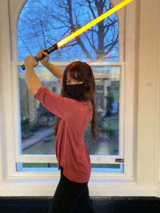 Kat as a Jedi Master