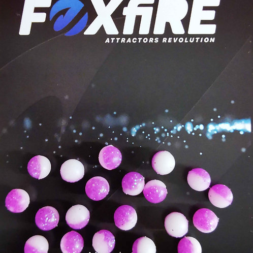 Foxfire Sfera 6 mm Bianco & Viola Glitter