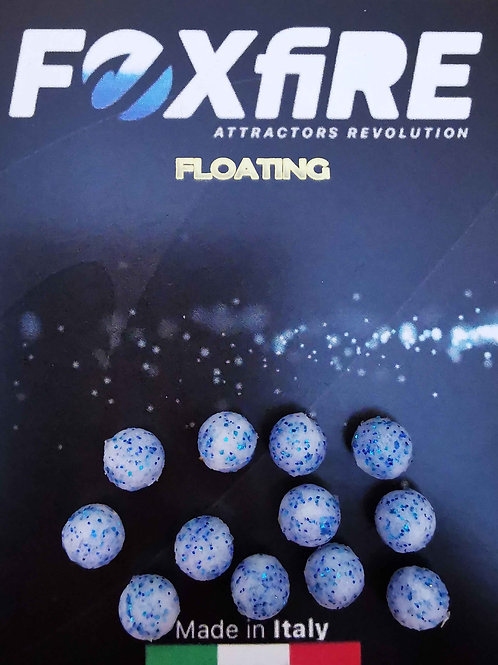 Foxfire Sfera 6,5 mm Bianco & Blu Glitter FLOATING