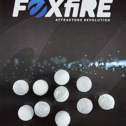 Foxfire Sfera 8 mm Bianco & Argento Glitter