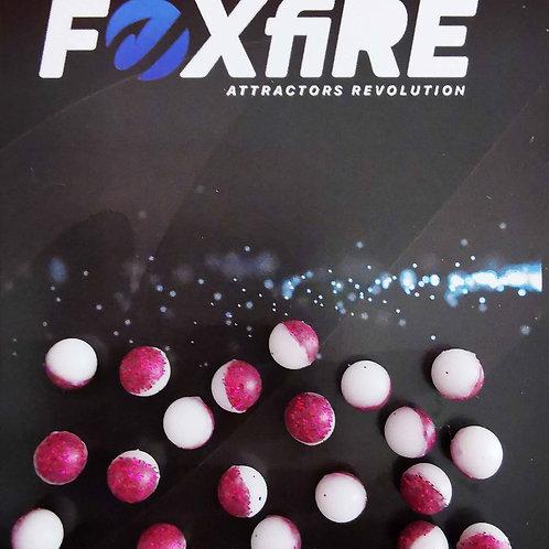 Foxfire Sfera 6 mm Bianco & Rosso Glitter