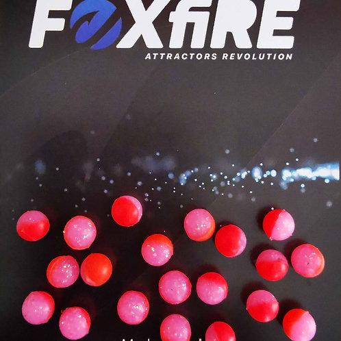 Foxfire Sfera 6 mm Rosso & Rosa Glitter