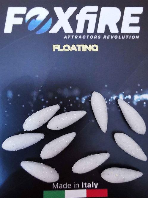 Foxfire Drop 5,5 mm Bianco & Argento Glitter FLOATING