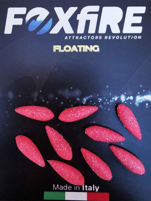 Foxfire Drop 5,5 mm Rosso & Argento Glitter FLOATING