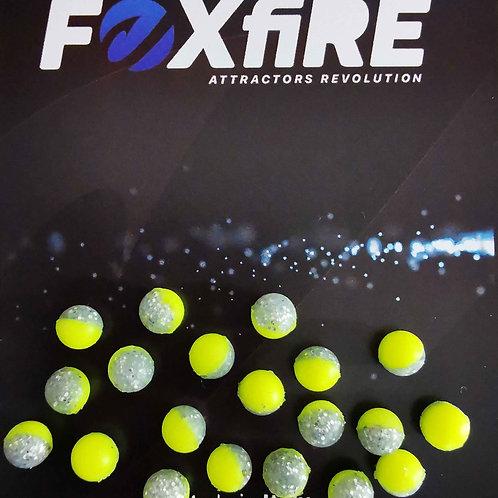 Foxfire Sfera 6 mm Giallo & Argento Glitter