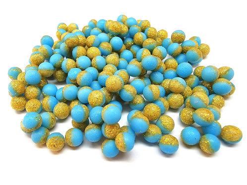 Foxfire Sfera 6,5 mm Azzurro & Oro Glitter FLOATING