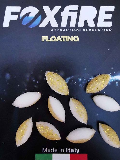 Foxfire Ovale 6,5 mm Bianco & Oro FLOATING