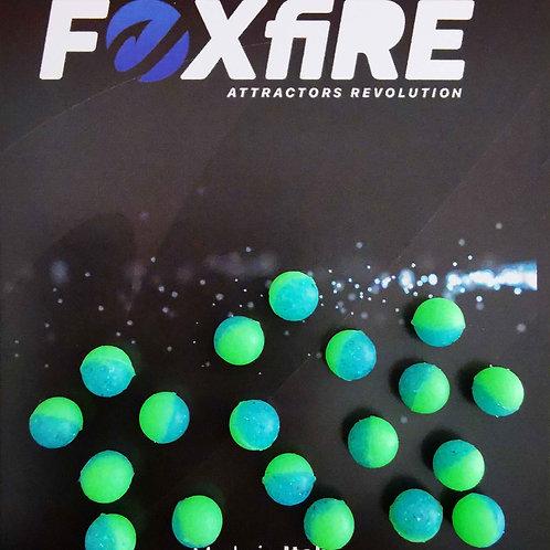 Foxfire Sfera 6 mm Verde & Azzurro Glitter