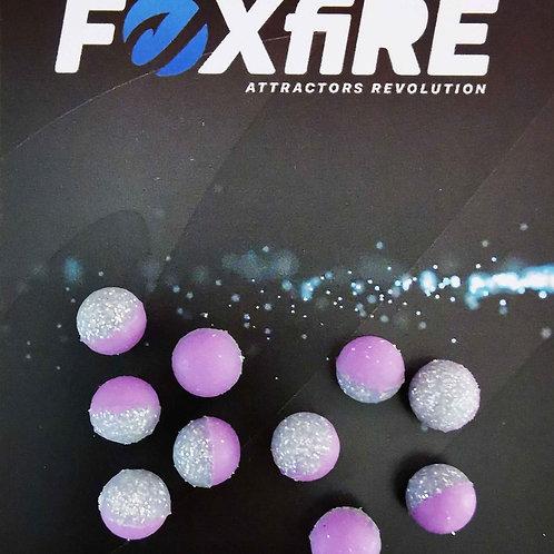 Foxfire Sfera 8 mm Viola & Argento Glitter