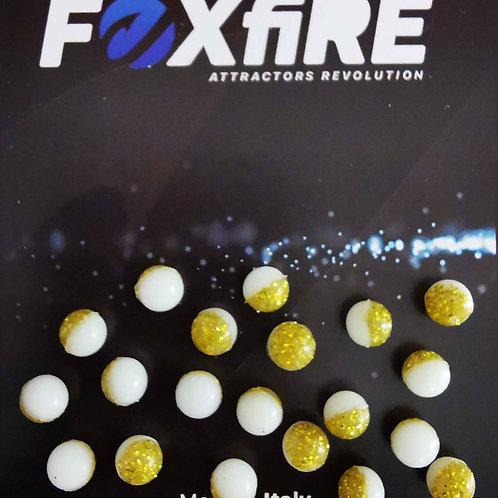 Foxfire Sfera 6 mm Bianco & Oro