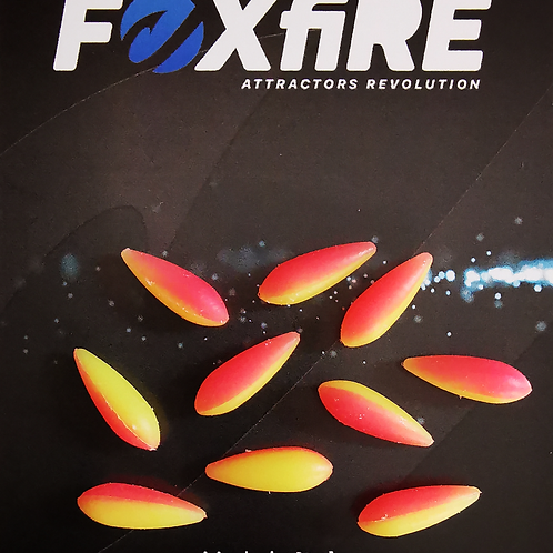 Foxfire Drop 5 mm Rosa & Giallo
