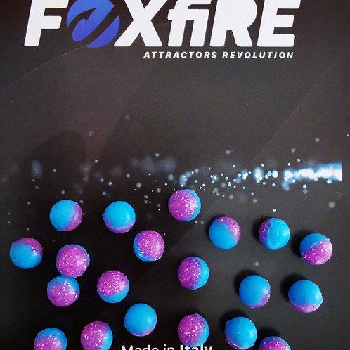 Foxfire Sfera 6 mm Azzurro & Viola Glitter