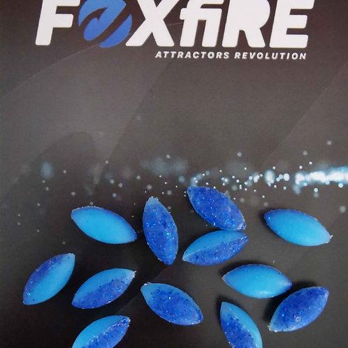 Foxfire Ovale 6 mm Blue & Blue Glitter