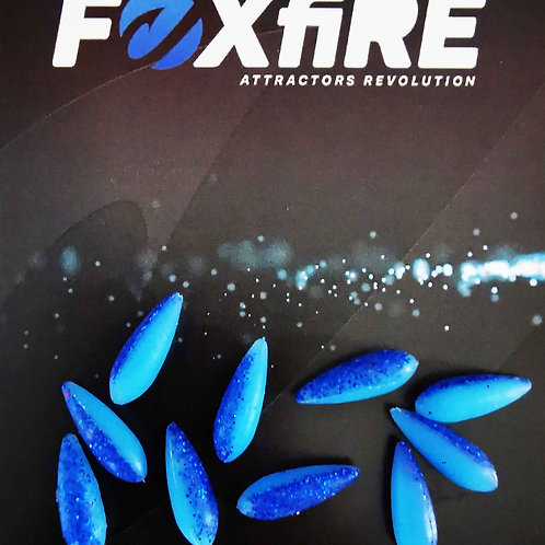 Foxfire Drop 5 mm Blue & Blue Glitter