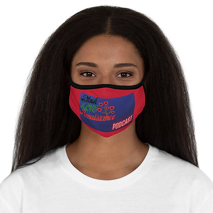Black Love Fitted Polyester Face Mask