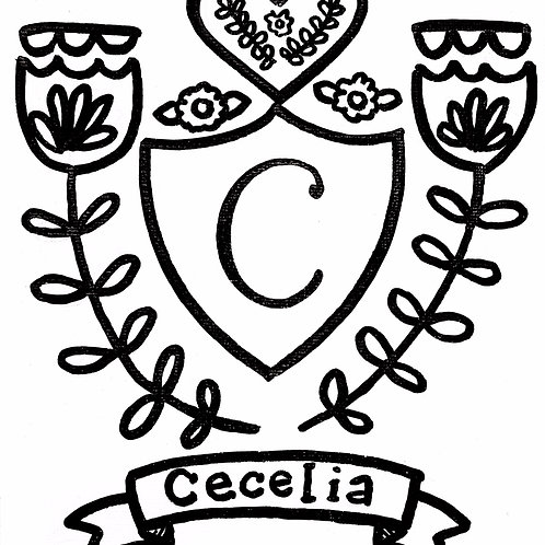 Whimsy Crest Personalized Paint-Your-Own Canvas