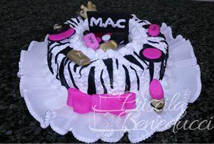bolo maquiagem  feminino zebra  chantilly glace belo horizonte bh nova lima betim contagem priscila