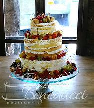 bolo de casamento rustico naked sem cobe