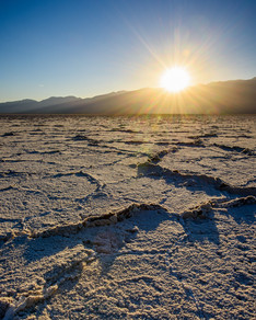 Salt Flats In Death Valley