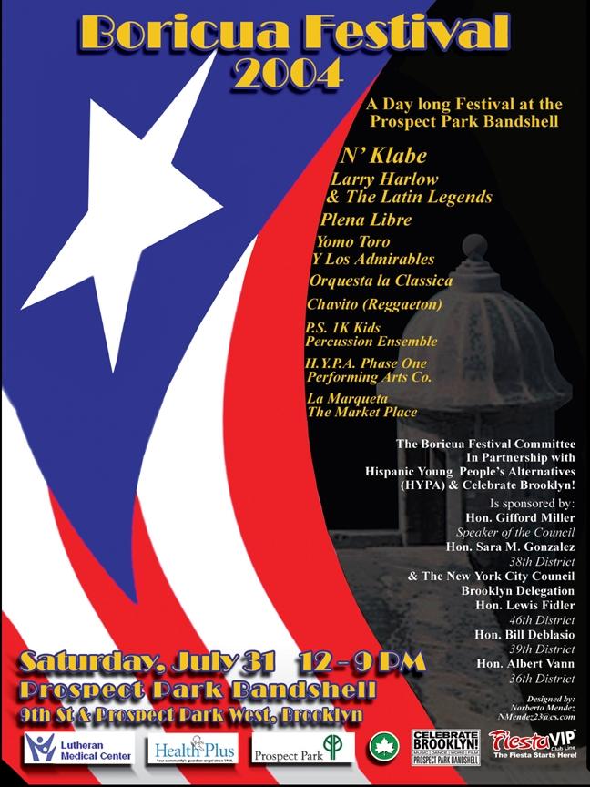 Boricua Festival 2004 Poster