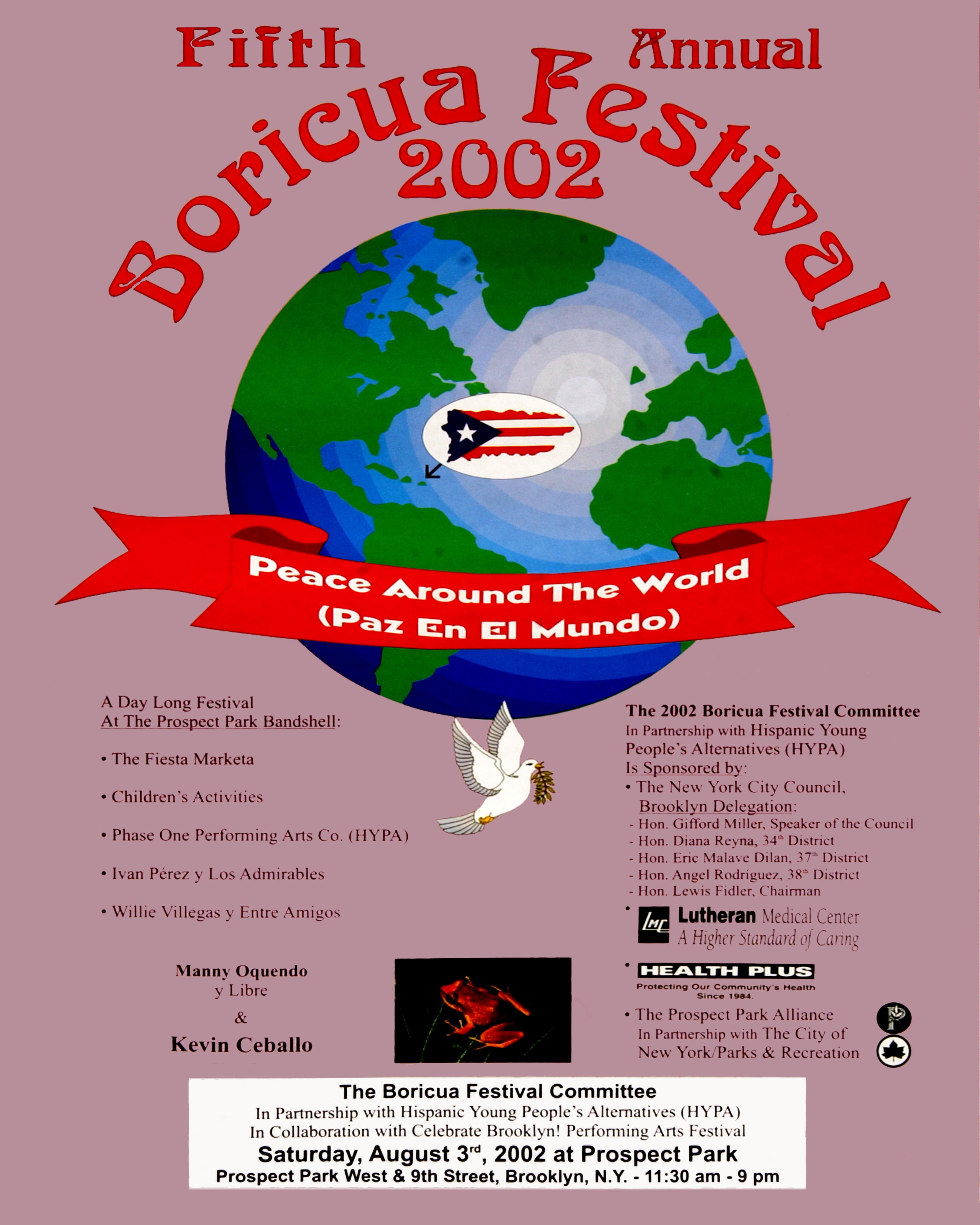 Boricua Festival 2002 Poster