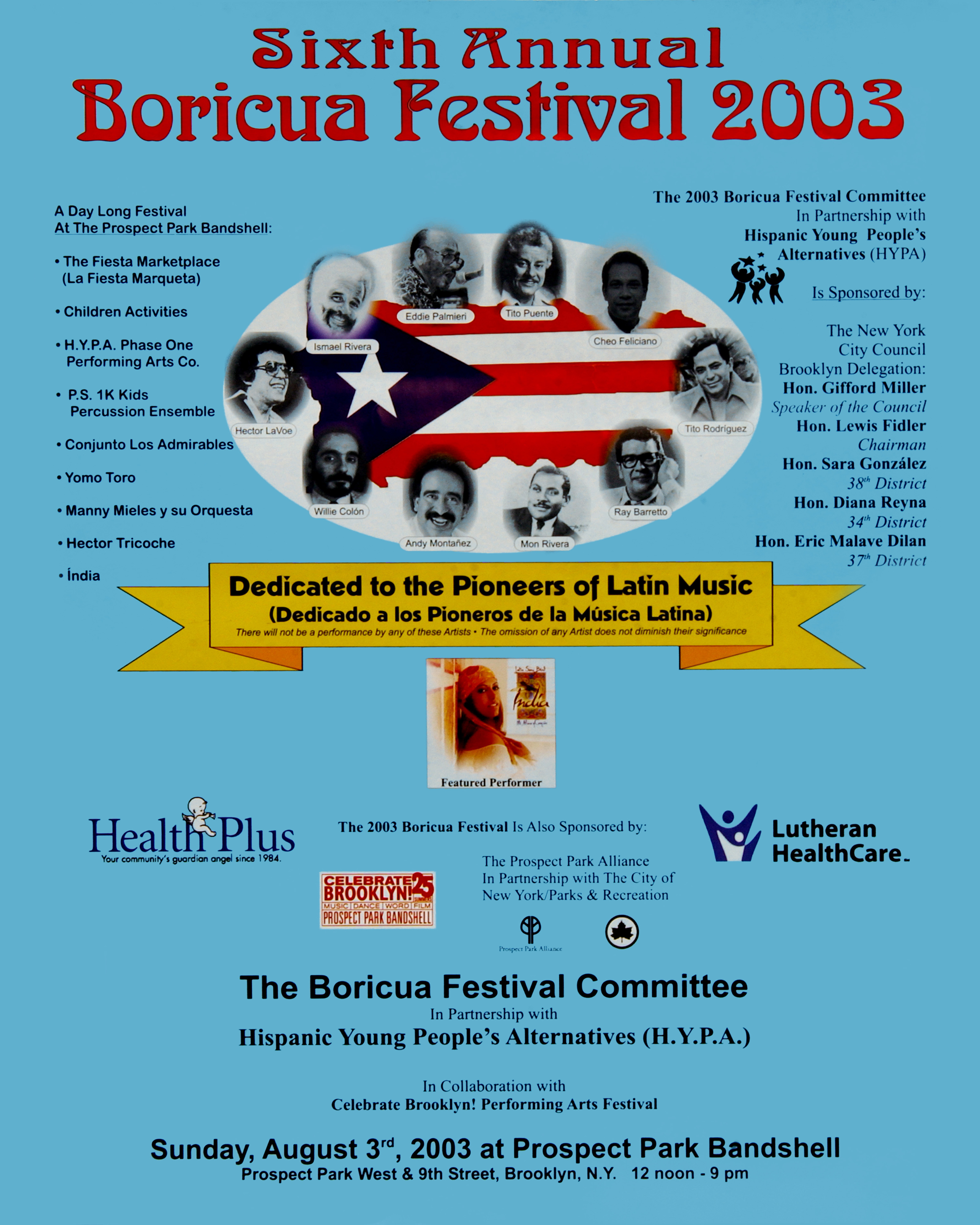 Boricua Festival 2003 Poster