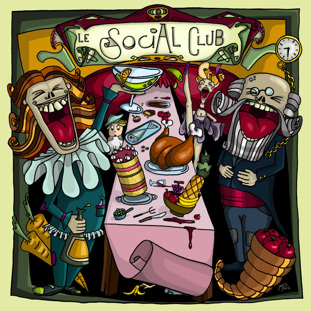 Social Club Digital drawing