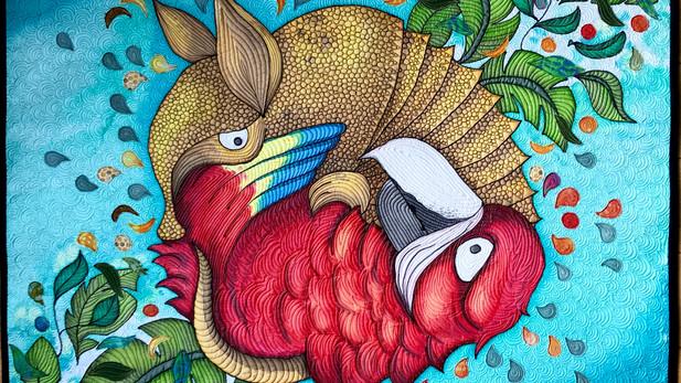 Exquisite Corpse 0.2: Parrot VS Armadillo
