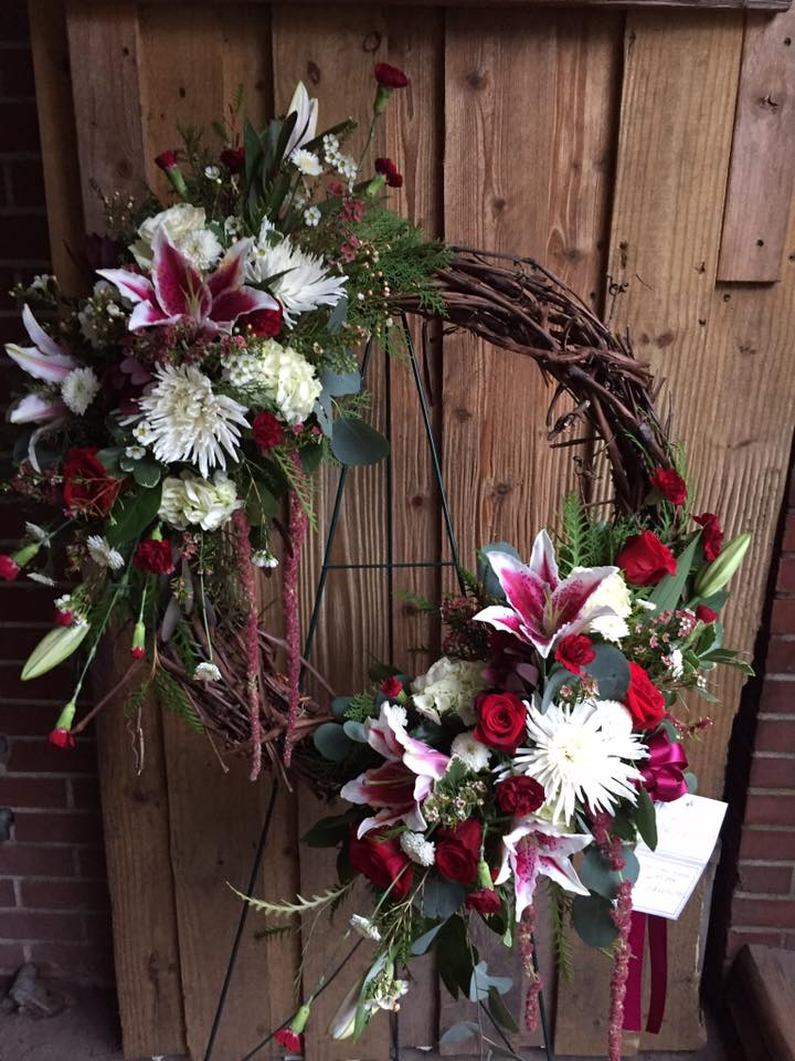 Funeral Grapevine Wreath
