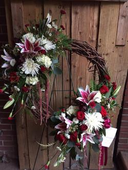 Funeral Grapevine Wreath
