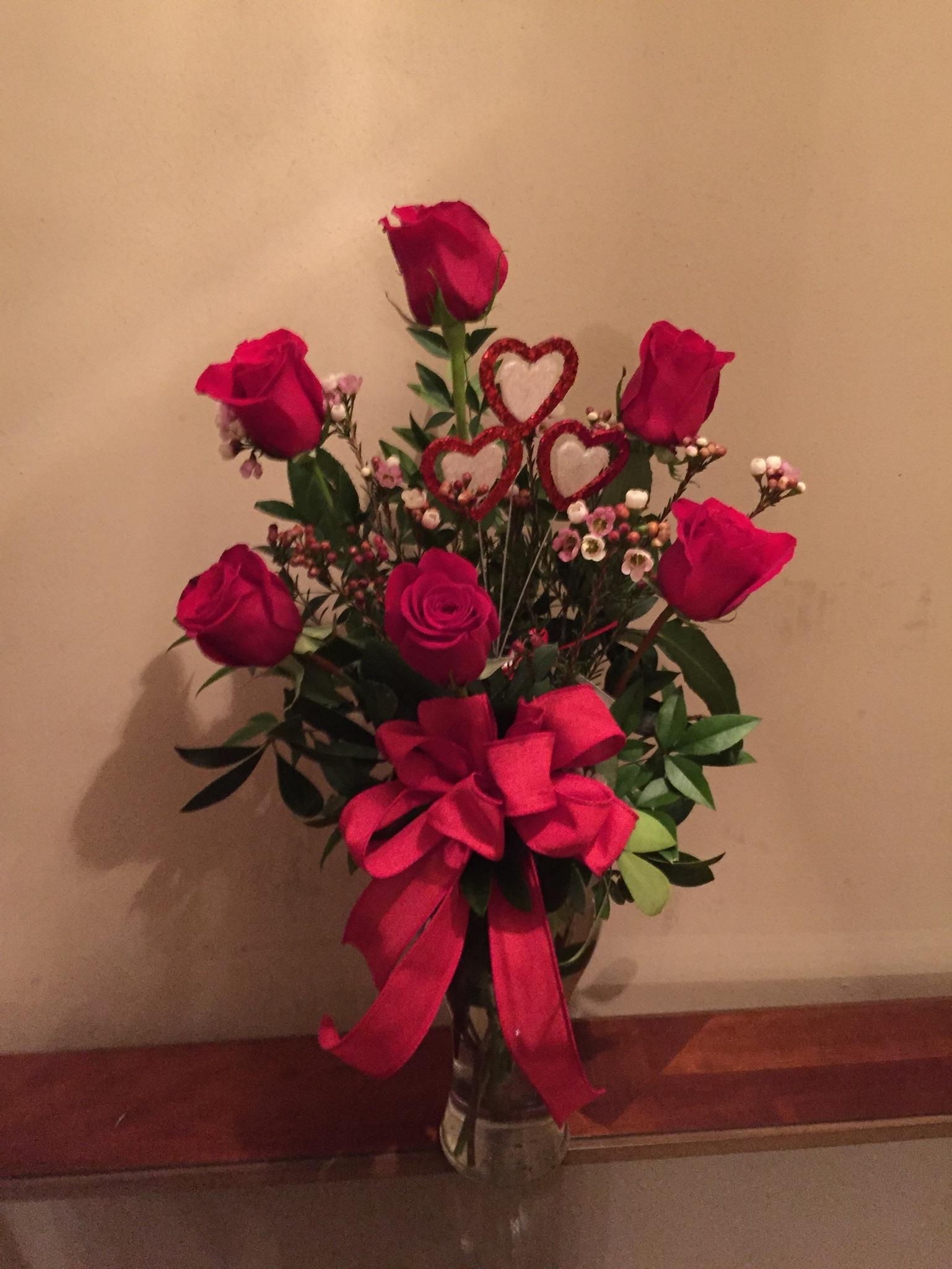Half Dozen Roses $35.00