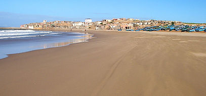 sidi kabuki plage Maroc aurore marine yoga