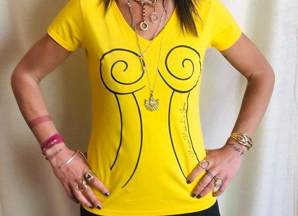 Tee-shirt Corset - jaune