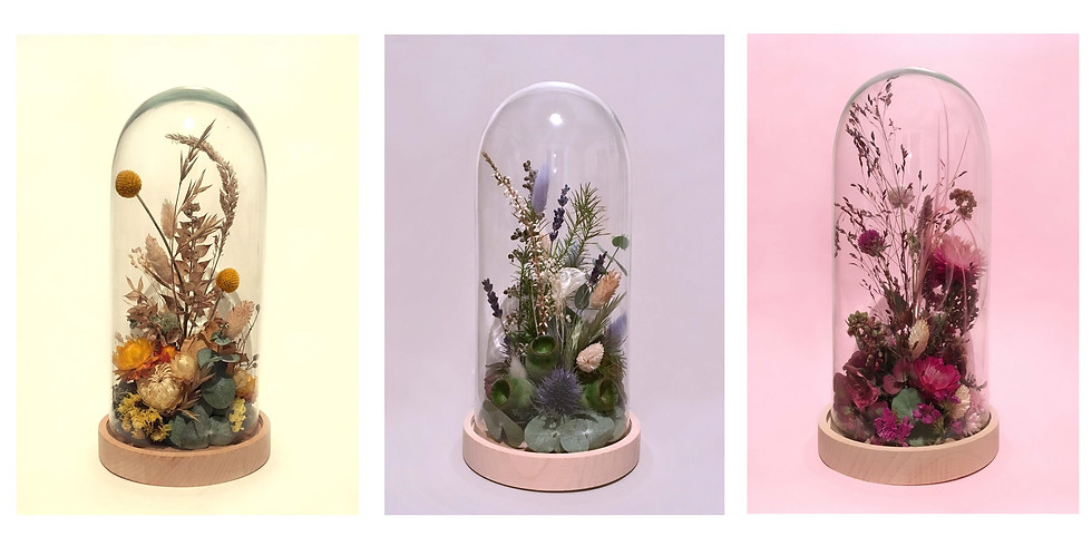 Atelier DIY : cloches de fleurs séchées