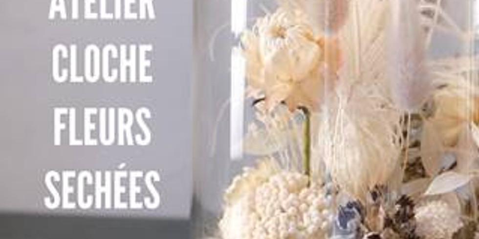 Atelier cloche de fleurs séchées