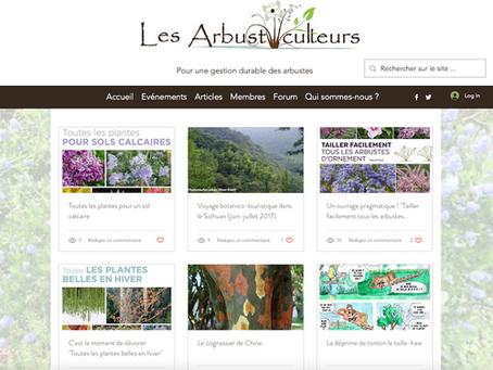 Renaissance du site internet Les Arbusticulteurs
