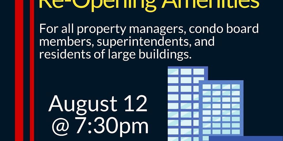 Re-Opening of Common Amenities in Large Buildings