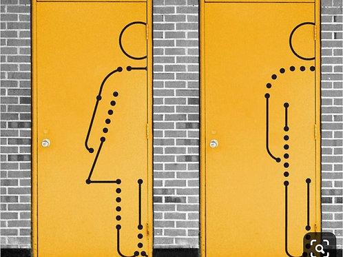 Adesivo de Porta Diversos - Para Banheiro #2