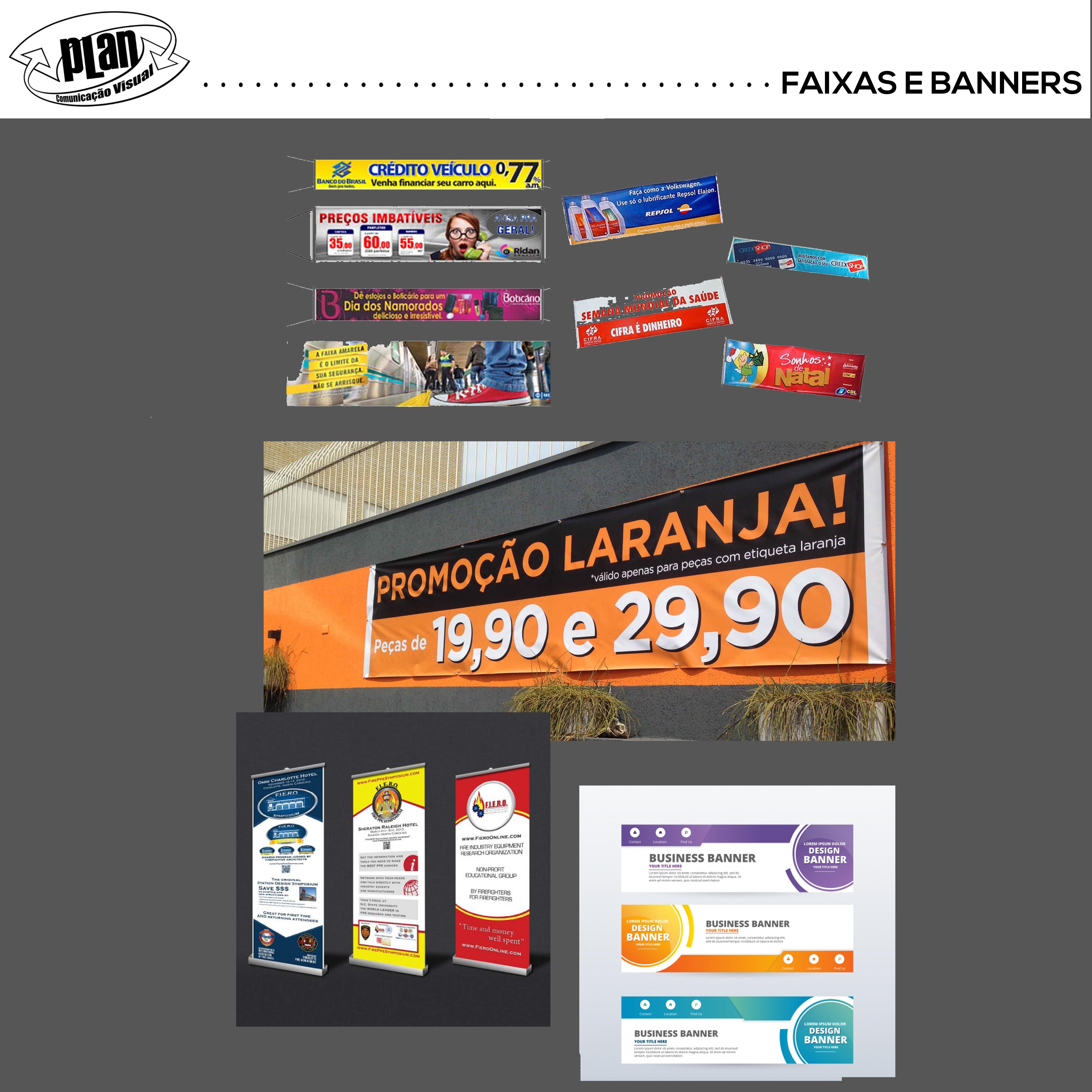 FAIXAS E BANNERS