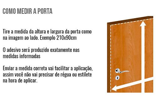 ADESIVO PERSONALIZADO PARA PORTA - WC