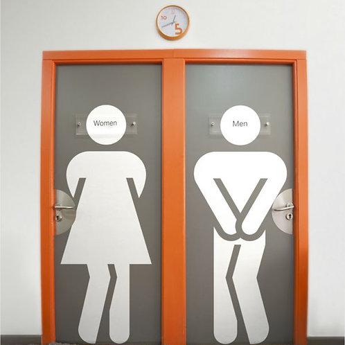 Adesivo de Porta Diversos - Para Banheiro #1